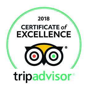 Trip Adviser Certificate of Excellence 2018