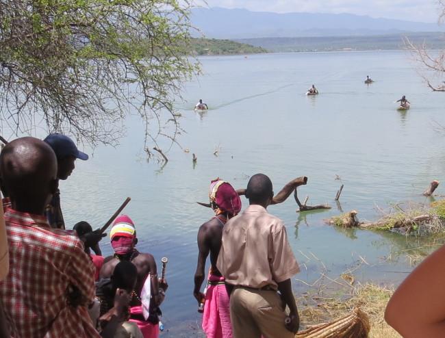 Njemp ambach boat race from Island Camp