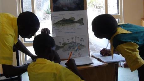 Omega lab teaching island school children